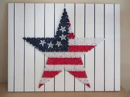 American Flag String Art KIT