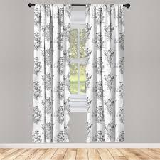 gardine fensterbehandlungen 2 panel set für wohnzimmer schlafzimmer dekor abakuhaus blumen umreißen wilde blumen pflanzen kaufen otto