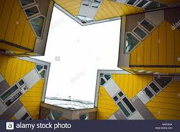 100 Cube House Design Rotterdam Yellow Cube House Apartment View From Below To
