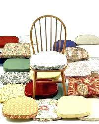 Kitchen Chair Cushions With Ties Pads Throughout Cool Dining Room Design Non Slip