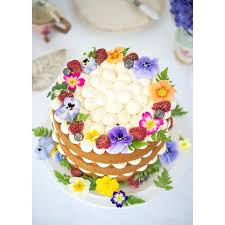 24 best Edible Flower Cakes images on Pinterest