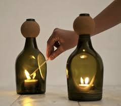 Candleholders By Lucia Bruno Are Crafted From Upcycled Bottles