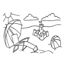 Beach Buddies Coloring Pages The Umbrella And Ball