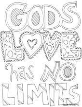 Gods Love Has No Limits Printable Doodle Coloring Pages