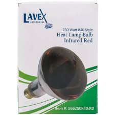 lavex janitorial 250 watt infrared light bulb heat l