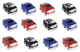 100 Different Trucks 12 PCS Friction Powered Small Toy Pickup Offered In