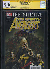 Mighty Avengers 6 CGC 96 SS Frank Cho THE INITIATIVE Ms Marvel