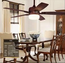 Retro Living Room Dining Bedroom Fan Chandelier Lights Remote Control Led American Village