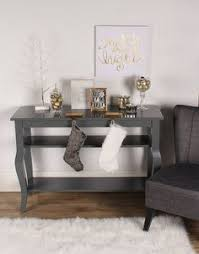 Amazon Kate and Laurel Lillian Wood Console Table with Display