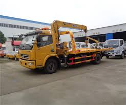 China Dongfeng Flatbed Tow Truck Mini Car Pick Up Recovery Wrecker ...