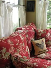 Red Country French Living Rooms by ƒreɲçɦ Couɲʈrƴ Nice Fabric To Make Cushions Or Chair Covers For