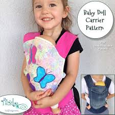 Baby Doll Carrier Pattern With Nylon Adjustable Straps For You Etsy