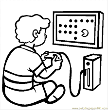94 The Video Game Console Coloring Page