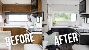 100 Modern Travel Trailer OUR DIY CAMPER KITCHEN REVEAL How To Paint Oak Cabinets In An RV