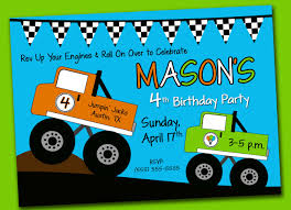 Monster Truck Birthday Party Invitation. | Birthdays Monster Contruck Invitation Invite Pics Of Truck Fresh Birthday Invitations Personalized Invitation Boy By Uprint Etsy Party Ideas At In A Box 50 Off Sale 2nd Svg And Printable Clipart To Make Nice 94 In Design With Frozen Elsa Anna Trucks Food Jam Supplies Monster Truck Birthday Truck Birthday Party Invites Tonys 6th Bday