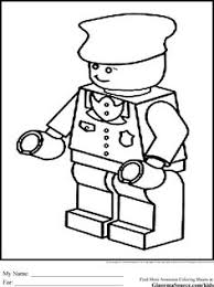 Lego Robber Coloring Pages