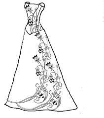 Pin Drawn Wedding Dress Coloring Page 6