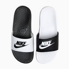 NIKE BENASSI JDI MISMATCH 818736 011 Mens Ladys Sandals BLACK WHITE Black White JUST DO IT Rest Room Slippers Beach