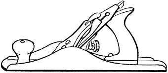 Line Art Drawings Carpenter Plane Clipart Hand