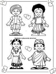 Pinto Dibujos Cute Coloring Page Of Children Around The World