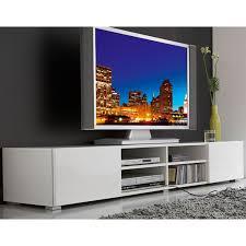 meuble tv 4 niches 2 tiroirs magnus blanc prix promo la maison