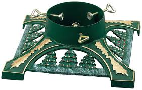 Awesome Firm Green Christmas Tree Stand For Real With Pine Trees Pattern Metal