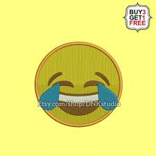 Laughing Face With Tears Of Joy Emoji Emoticon Embroidery
