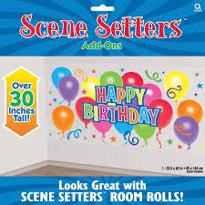 Halloween Scene Setters Uk by 5 4ft General Happy Birthday Scene Setters Room Party Back Drop