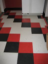 Checkerboard Vinyl Flooring For Trailers by Suzanne U0027s Cheery Red Black And White Checkerboard Floor