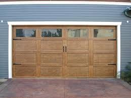 Impressive Rustic Garage Door Style Wood With Handles Hardware Craftsman Doors