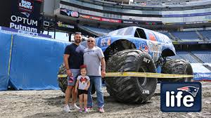 Patriots Take A Ride On A Monster Truck