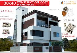 100 What Is A Duplex Building 30x40 CONSTRUCTION COST In Bangalore 30x40 House Construction Cost