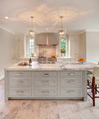 antique nickel hardware finish kitchen transitional with pendant
