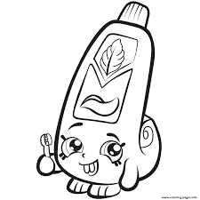 Cartoon Toothpaste Shopkins Season 1 Coloring Pages Print Download