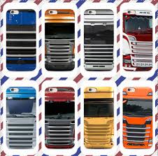 100 Truck Phone Blue Red SCANIA Phone Case For Iphone X 7 8 Plus Black