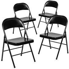 100 Folding Chair Art Shop 4 Pk HERCULES Series Double Braced Metal Free