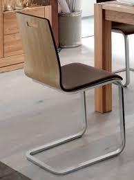 freischwinger stuhl set stühle ledersitz echtholzfunier eiche geölt gepolstert lanatura