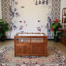 Chinese Antique Elm Wood Jewelry Counter Display Case Glass Cases Showcase Jade Cabinet