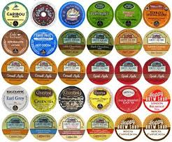 30 Count TOP BRAND COFFEE TEA CIDER HOT COCOA And CAPPUCCINO K Cup Variety Sampler Pack Single Serve Cups For Keurig Brewers