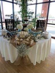Burlap Rustic Table Decorations Shabby Chic Wedding