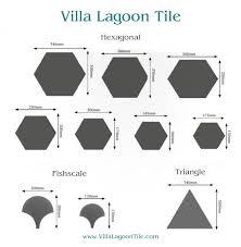 cement tile shapes and sizes villa lagoon tile