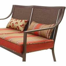 Mainstays Patio Furniture Manufacturer by Amazon Com Mainstays Alexandra Square Patio Loveseat Bench