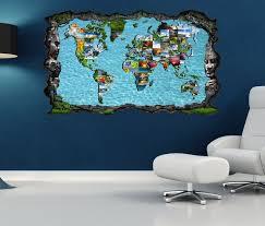 3d wandtattoo weltkarte karte bilder modern collage welt selbstklebend wandbild wandsticker wohnzimmer wand aufkleber 11o1298 wandtattoos und