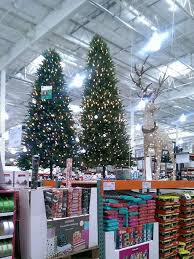 A Large Warehouse Retailer Christmas Trees And Other Decorations On Display
