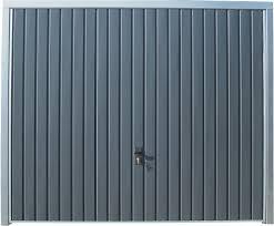 porte de garage basculante grise h200xl240 bricoman