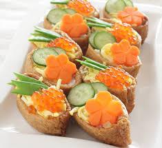 canape recipes sushi canapés recipe centre