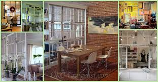 Repurposed Salvaged Old Windows into Room Dividers