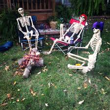 Outdoor Halloween Yard Decorations Lovely Poseable Skeletons Pinterest