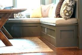 Corner Seat With Storage Kitchen Bench Seats Redesign To Build A Dining Room Banquette