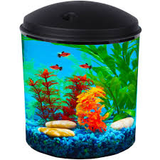 Star Wars Fish Tank Decorations by Hawkeye 2 Gallon Aquarium Kit Power Filter And Led Lighting 10